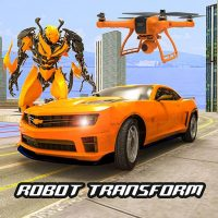 Download Drone Robot Car Transform Robot Transforming games 22.9.9 APK PRO (Unlimited Everything)