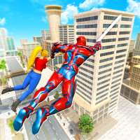 Flying Police Robot Rope Hero: Gangster Crime City  42 APK MOD (Unlimited Everything)