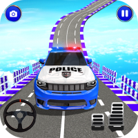 Download Police Spooky Jeep Stunt Game: Mega Ramp 3D 1.0 APK MOD (Unlimited Everything)