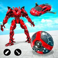 Download Red Ball Robot Car Transform: Flying Car Games 1.3.8 APK PRO (Unlimited Everything)