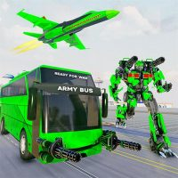 Army Bus Robot Transform Wars – Air jet robot game  4.0 APK MOD (Unlimited Everything)