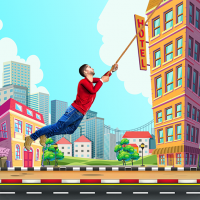 Download City bounce rope hero–Free offline adventure games 1.31 APK MOD (Unlimited Everything)
