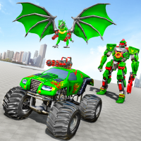 Download Monster Truck Robot Wars – New Dragon Robot Game 1.1.5 APK PRO (Unlimited Everything)