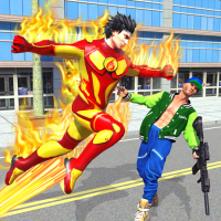 Flying Police Robot Fire Hero: Gangster Crime City  12 APK MOD (Unlimited Everything)