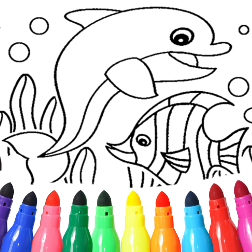 Dolphin and fish coloring book 16.3.2 APK MOD (Unlimited Everything)