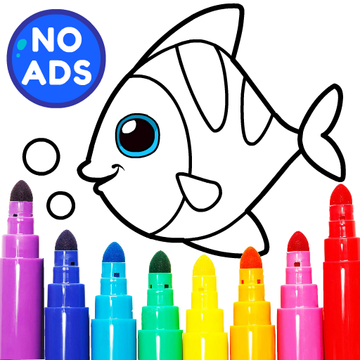Learning & Coloring Game for Kids & Preschoolers  29.0 APK MOD (Unlimited Everything)