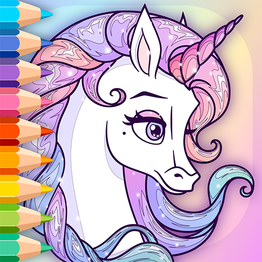 Sparkling Rainbow Unicorns Coloring Book For Kids 2.0 APK MOD (Unlimited Everything)