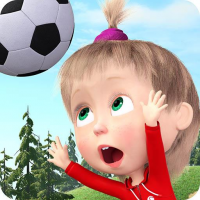 Masha and the Bear: Football Games for kids 1.3.8 APK MOD (Unlimited Everything)